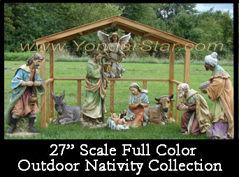 Full Color Nativity Outdoors