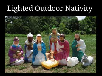 Lighted Outdoor Nativity